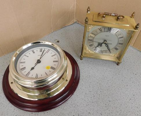 Metamec clock & Estyma carriage clock