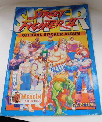 Vintage street fighter sticker album-not complete