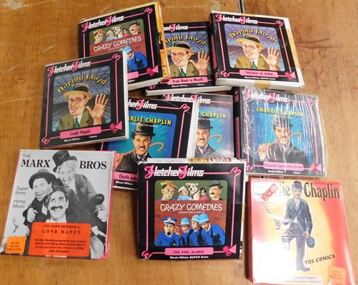 10 Cine films super 8mm-Charlie Chaplin etc