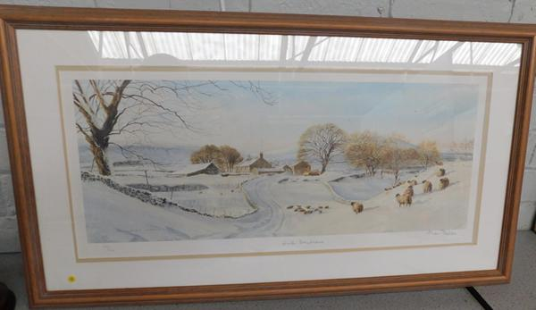 Ltd edition signed print Winter Daydreams by Alan Ingham 334/850