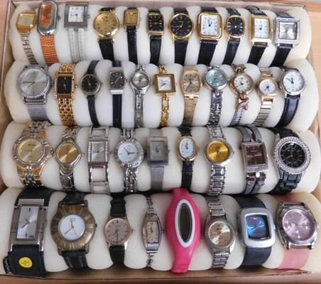 Large assortment of ladies watches