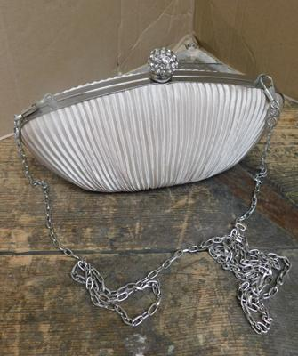 Vintage style satin cased purse