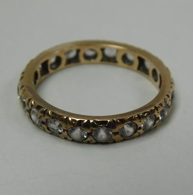 9ct Gold full eternity ring set with white stones size L1/2