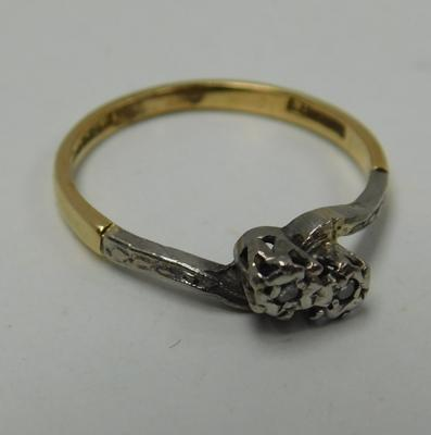 18ct Gold & platinum diamond ring size M1/2