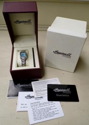 Ingersoll diamond ladies watch with paperwork