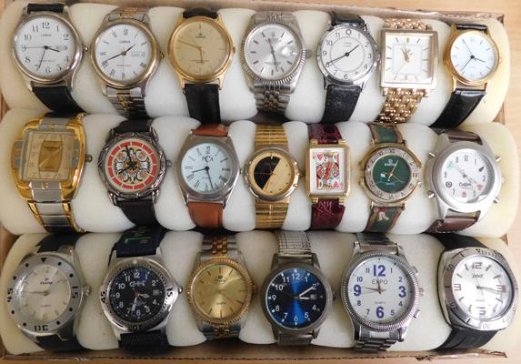 Large assortment of gents watches