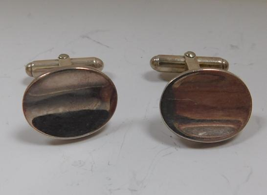 Vintage sterling silver gents cufflinks