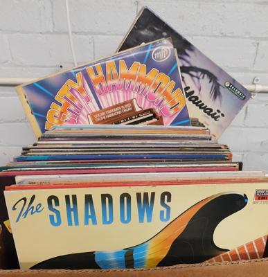 Box of records/LPs