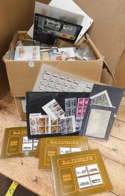 Heavy box containing huge quantity of stamps
