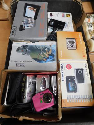 Large selection of cameras, dash cam etc