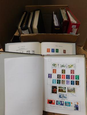 9x Large binders-mainly GB stamps