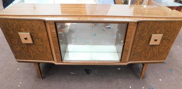 Mid century retro drinks cabinet with swivel middle