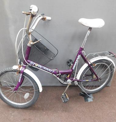 Universal stowaway ladies folding bike with basket