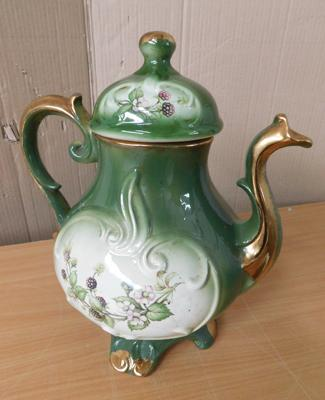 "Large ceramic teapot-no damage approx 14"" tall"