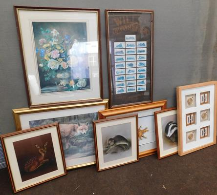 Selection of framed prints etc