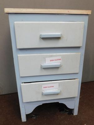Vintage set of painted drawers - three drawer set
