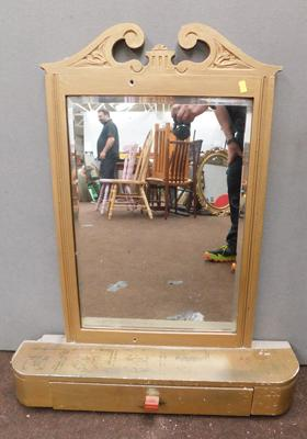 Vintage painted dressing table mirror with drawer