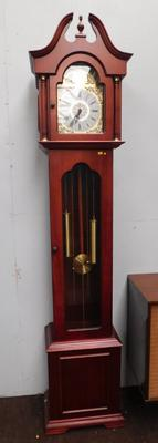 Decorative Tempus Fugit reproduction grandfather clock