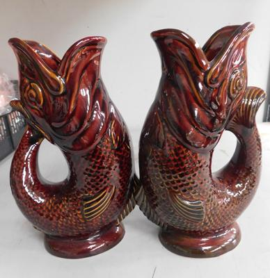 Pair of Dartmouth glug jug vases