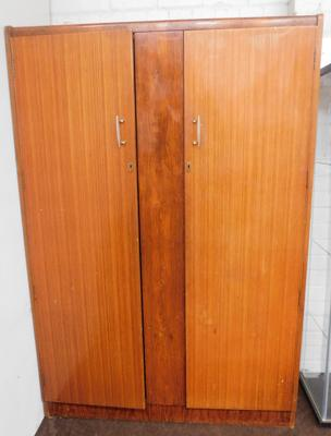 Retro mid century double wardrobe