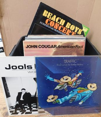 "Over 50 LPs & 12"" singles inc Traffic, Jools Holland, Beach Boys, Elvis, Beatles, Elton John"
