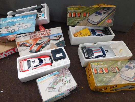 Box of 5 vintage radio control cars