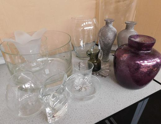 Assortment of modern/contemporary glassware