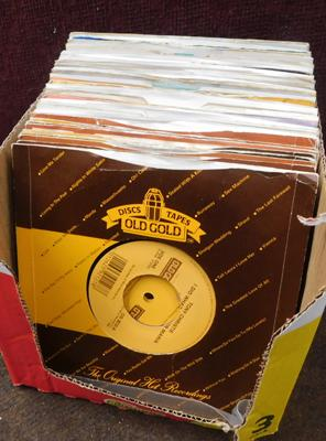 Old gold record label 45s collectable