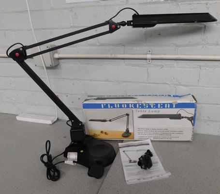 Table desk lamp angle poise with attachment for desk, with box w/o