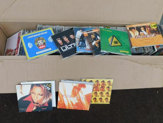 Box of CD singles/EPs