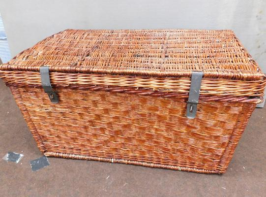 Large industrial wicker basket