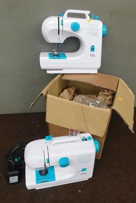 2 x EGL compact sewing machines, as seen