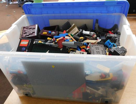 Large box of Lego