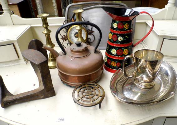 Box of metalware inc Bargeware etc