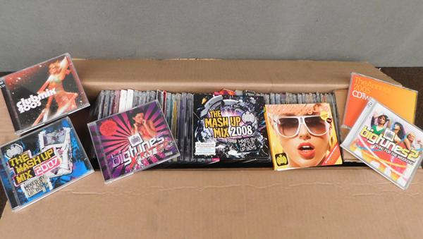 Box of CDs-mainly club