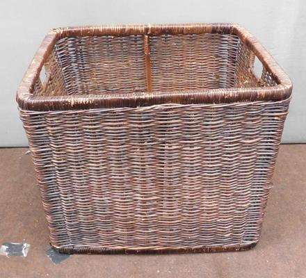 Large industrial sized wicker basket