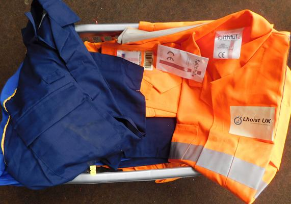 Box of protective jackets-various colours & sizes