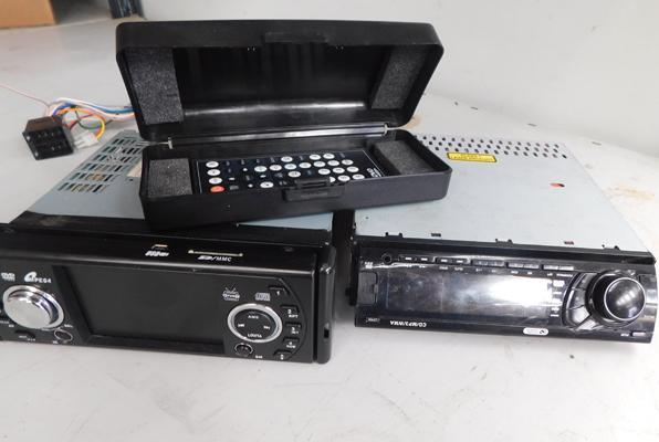 Car DVD player with remote + car MP3 CD player