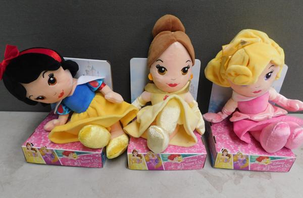 3x Disney princess soft toys -new