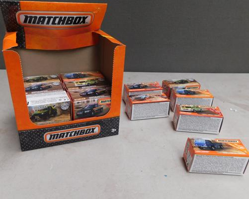 Box of 18 Matchbox cars
