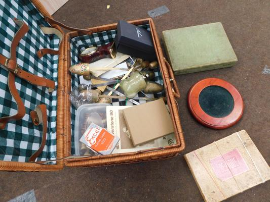 Picnic basket-full of old games