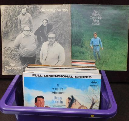 Box of mixed LPs  approx 45