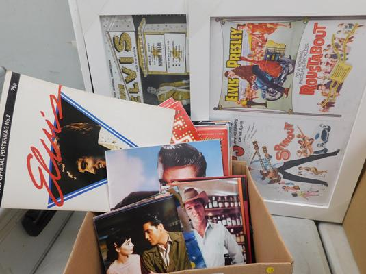 Elvis picture frames, mags etc