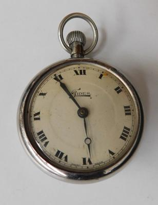 Fides chrome cased 1940s pocket watch