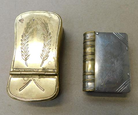 Gents vintage tin & vesta/stamp tin (engraved George Carr 1904)