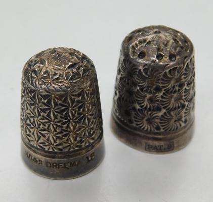Two antique thimbles