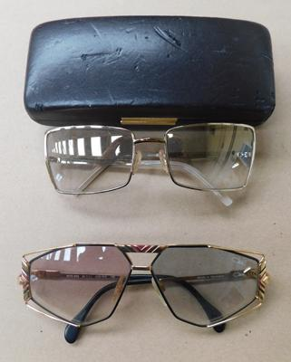 Pair of vintage sunglasses Cazal Germany + cased set of Ferre Italy sunglasses