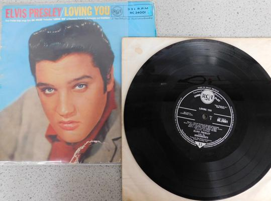 LP original 10 inch Elvis Loving You