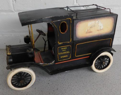 Tinplate reproduction Home & Colonial Stores delivery van (approx. 12 inches)