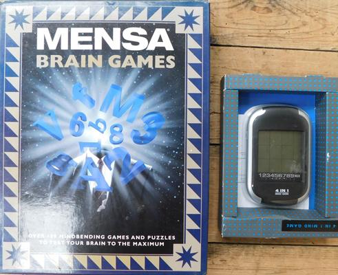 Approx. 100 mind bending games & puzzles, incl. 4 in 1 Mind game - boxed new